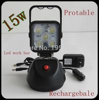 4pcs 15W Rechargeable LED Flood Beam Work Light LED Handheld Portable Work Light with Magnet Base for Outdoor Camping
