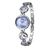 TIME100 Women Quartz Watches purple shell dial Jewelry Hollow out heart Strap Ladies Bracelet Watch relogio feminino