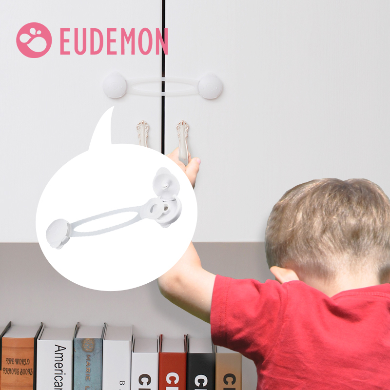 EUDEMON 5pcs Drawer Door Cabinet Cupboard Toilet Safety Locks Baby Kids Safety Care Plastic Locks Straps Infant Baby Protection