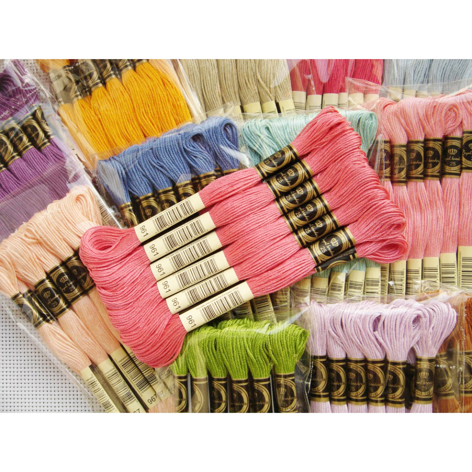Royalbroderie Egyptian Long-staple Cotton Cross Stitch Thread Hand Embroidery Thread 447 Colors 26s/2*6 DIY Threads High Quality