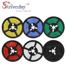 100 meters (328ft) 22AWG high temperature resistance Flexible silicone wire tinned copper wire RC power cord Electronic cable 22awg arcade stranded hook up wire pvc flexible electronic tinned copper wire electronic cable 10m 33ft per pcs