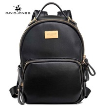 DAVIDJONES Women Mini Backpack teenager girls School Bags female shoulder bags college students causal bags ladies