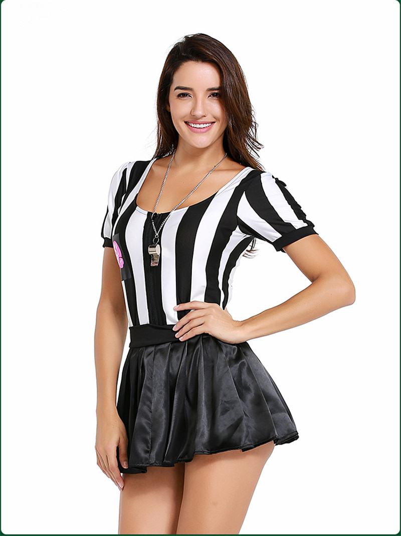 Adult Costume Women Referee Dress Sexy Girls Cheerleader Costumes  Referee Clothing