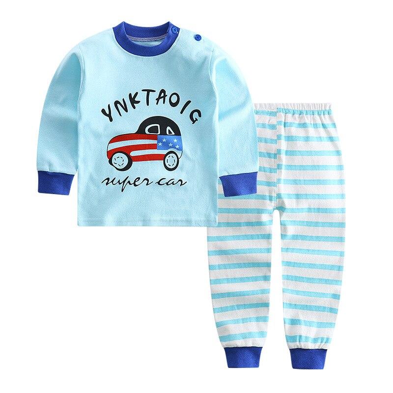 100% Kwaliteit Kids Auto Eenhoorn Pyjama Voor Meisjes Autummn Nachtkleding Jongens 100% Katoen Nachtkleding 2 Stks Twee Stukken Set Pijama Bebe 2 5 6 Jaar Oud Zacht En Antislippery