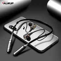 ALWUP G01 Bluetooth écouteur sans fil casque quatre unité d'entraînement Double dynamique hybride basse profonde écouteur pour téléphone avec micro 5.0