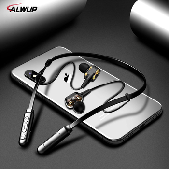 цена на ALWUP G01 Bluetooth Earphone Wireless Headphones Four Unit Drive Double Dynamic Hybrid Deep Bass Earphone for Phone with mic 5.0