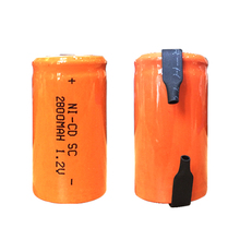TBUOTZO 12PCS ORANGE SC Ni-CD battery 2800mah rechargeable replacement 1.2V with tab an Extension batteries