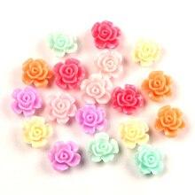 Embellishments Scrapbooking Flower Diy-Accessories Kawaii Craft Flatback Cabochon 13mm-Decoration