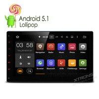 Xtrons 10.1 двойной 2 DIN Android 5.1 Lollipop 4 ядра автомобиля радио GPS навигации 1024*600 1080 P OBD2 стерео нет DVD Функция