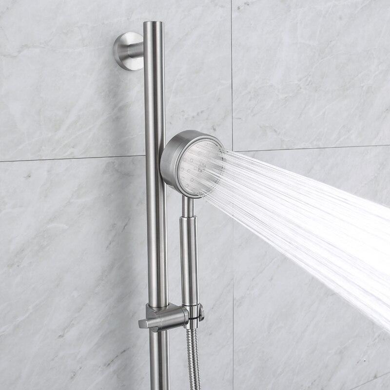 VRICH нержавеющей душ слайд-бар набор поворотный держатель Съемная душ 1,5 м шланг Аксессуары для ванной комнаты посылка D81-1