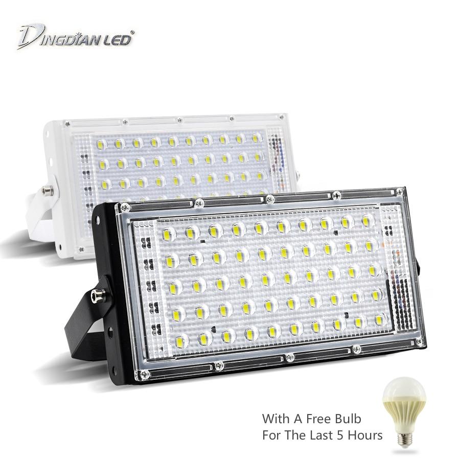 LED RGB Floodlights 220V Outdoor IP66 Waterproof 50W Perfect Power Flood Light LED Multicolour Spotlights SearchLight