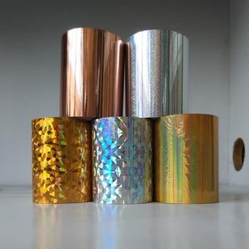 2ロールホログラフィックホイル紙またはプラスチックのホットスタンピングホイルホットプレス8 cm x120 mヒートスタンピングフィルム良質のホイル1