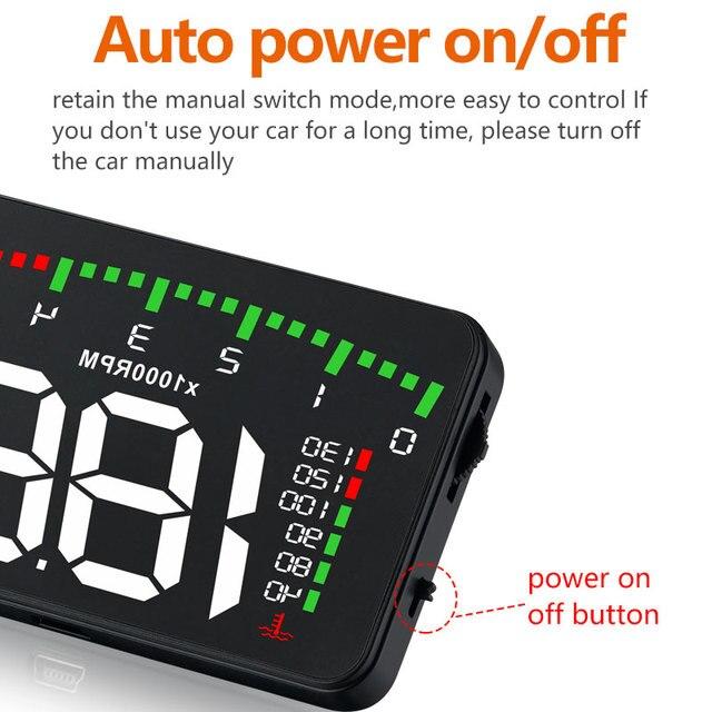 A100 3.5 A900 HUD affichage tête haute style voiture Hud affichage avertissement de survitesse pare-brise projecteur système d'alarme universel Auto 3
