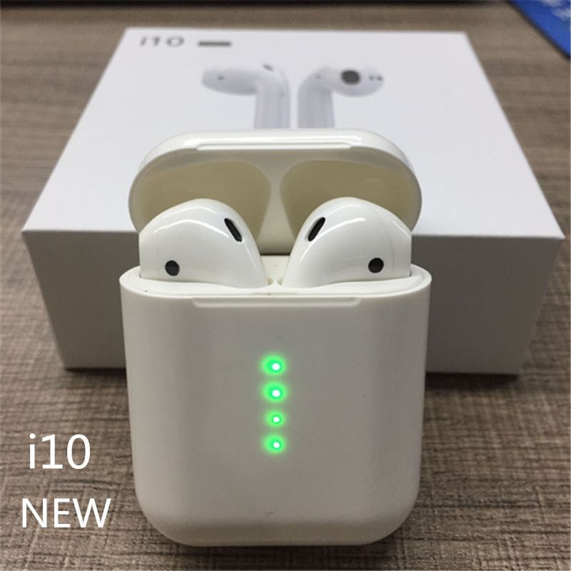 Wearpai i10 TWS bluetooth/earphone Mini Wireless Touch control Earphone Earbuds Built-in Mic Charging box with lighting port(China)
