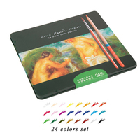 Marco 24 36 48 72 Color Set Watercolor Colored Pencil Professional Drawing Pencils School Pencils Lapices
