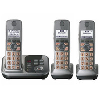 3 Handsets KX TG7731 1.9 GHz Digital wireless phone DECT 6.0 Link to Cell via Bluetooth Cordless Phone with Answering system