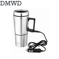 DMWD Auto Electric Bottle Portable Car Hot Water Heater Cup Travel Heating Kettle Teapot Stainless Steel
