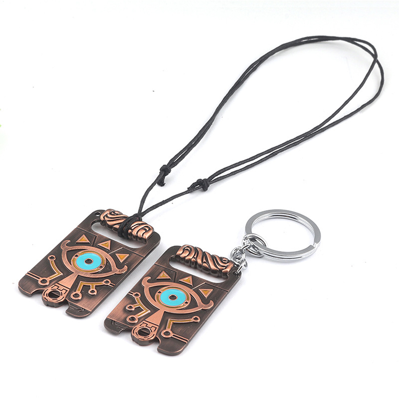 The Legend of Zelda: Breath of the Wild Necklace Pendent Big eyes Logo alloy Pendant Cosplay Accessories Prop Hip hop pendant