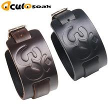 Cowboy Style Bracelet Black brown Strap Wide Wrap Leather Buckle Wristband Men Cuff Bracelets Punk Jewelry For Women