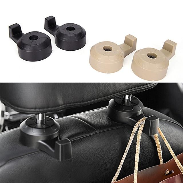 2Pcs Universal Car Truck Suv Seat Back Hanger Organizer Hook Headrest Holder Backrest Hook For Automobile