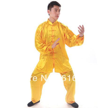 Unisex Multicolor Chinese Shadow Box Performance Wear Kungfu Suit Clothing Rayon Clothes Set