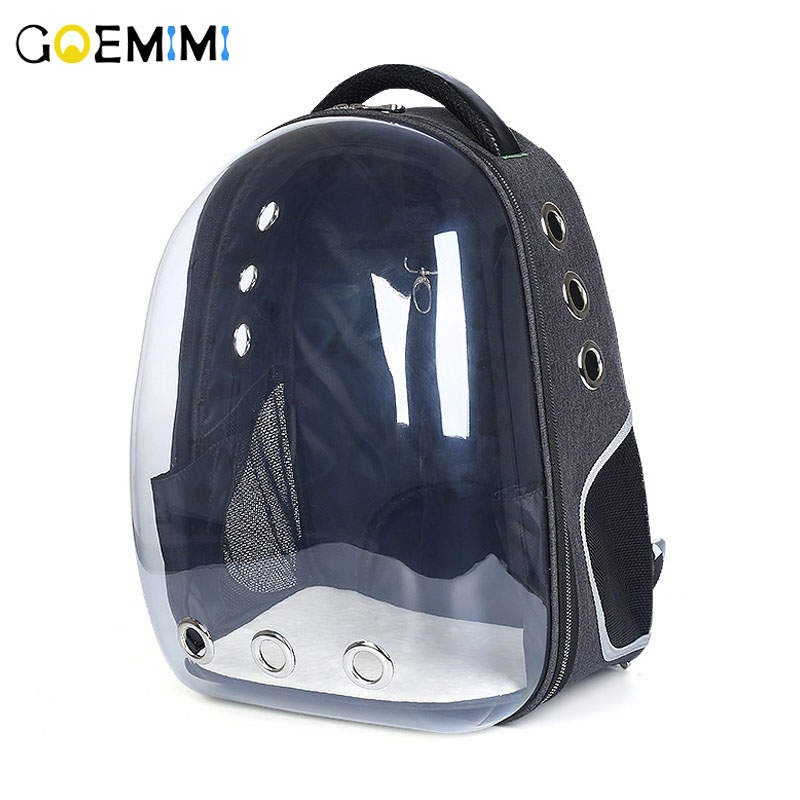 New Pet Dog Backpack Transparent Breathable Puppy Cat Bag Top Quality Fashion Dog Outdoor Carrier Bag Pet Products