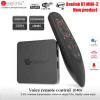 Beelink GT1 Mini TV Box Android 8.1 Voice Control Amlogic S905X2 TV Box 4GB DDR4 32GB 64G BT4.0 Dual Wifi HDMI2.0 4K Set-Top Box