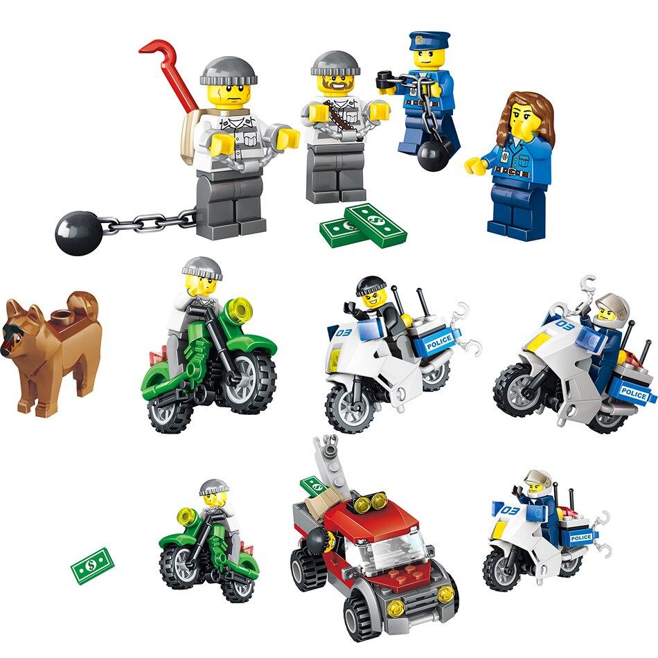 Mining Toys For Boys : Qunlong pcs police station building blocks compatible
