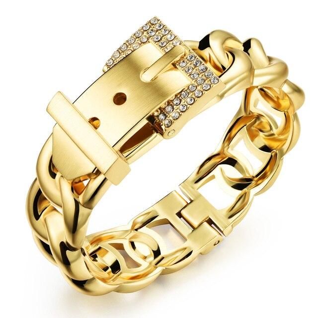 Luxury jewelry girl gold bracelet crystal charm fashion jewellery