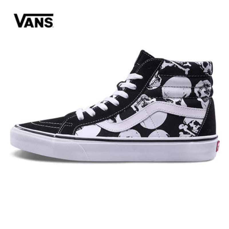 Original New Arrival Vans Men s   Women s Classic Sk8-Hi Reissue Skateboarding  Shoes Sneakers Canvas 1571061dc33e