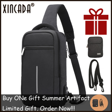 XINCADA Summer Technology Crossbody Bag Men Backpack Chest Pack Short Trip Sac Sling Anti-theft Water Repellent Shoulder