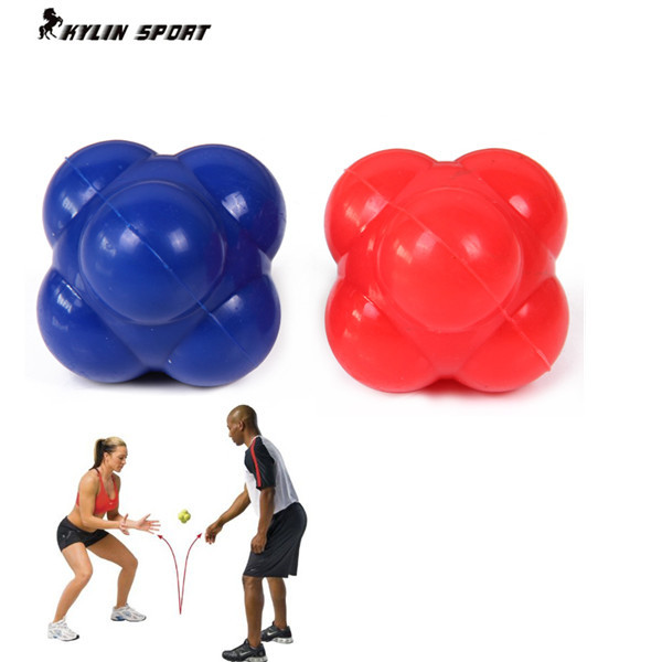 Fitness sechseckiger Reaktionsball sensibler Ball Tennisball Badminton Reaktionsgeschwindigkeit Beweglichkeit Trainingsball Trainingsgeräte