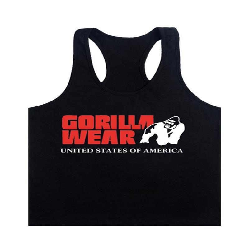 Fashion 2017 New Brand Gorilla Wear Muscle Tank Tops For Men Print Sleeveless Stringer Tank Tops Male