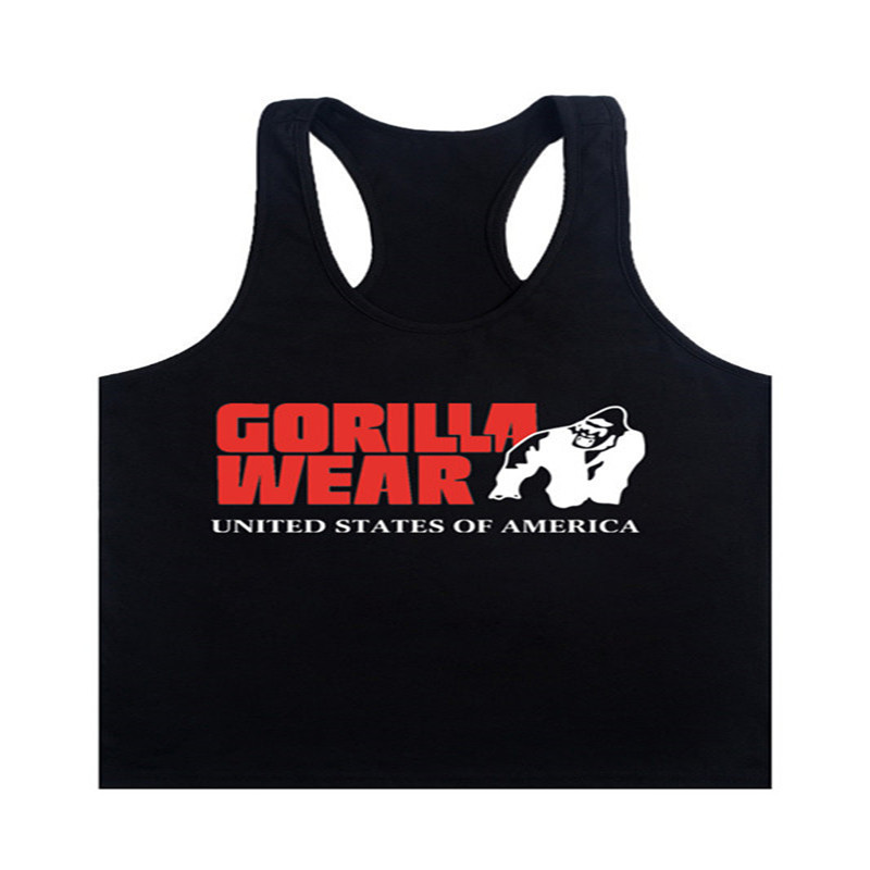 Fashion 2017 New Brand Gorilla Wear Muscle   Tank     Tops   For Men Print Sleeveless Stringer   Tank     Tops   Male