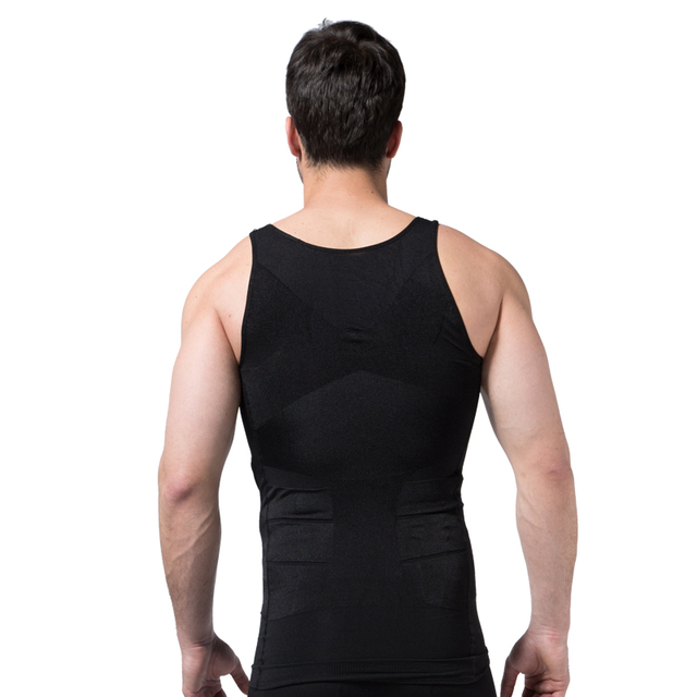 Shapers Slimming T-shirt Neoprene Shaper Men Slimming Vest Body Shaper Corset Waist Trainer Belt Super Stretch Bodysuit Hot S02