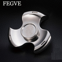 New Toy Hand Spinner Colorful Titanium Metal Tri Spinner Fidget Spinner Anti Stress New Year Gift