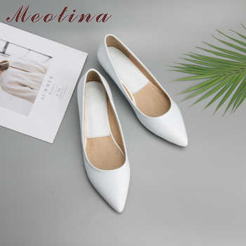 Meotina Spring Women Shoes 2019 Comfort Casual Shoes Pumps Low Heels Black Ladies Wedges Shoes White Green Plus Size 9 10 41 43 - Category 🛒 Shoes