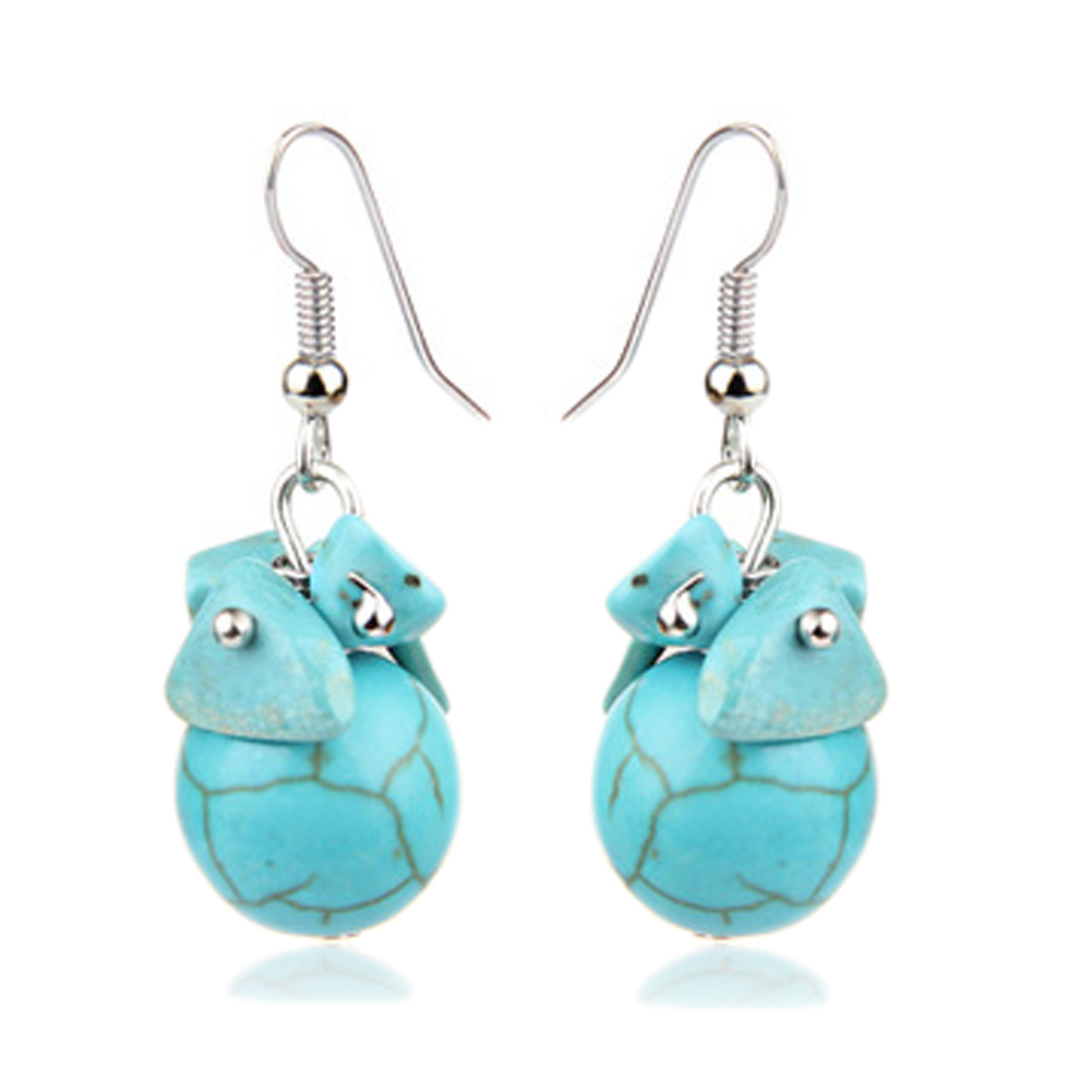 Retro Simple Ball Earrings Stone Ball Earrings Ethnic Style Selling Special Stone Accessories Earrings