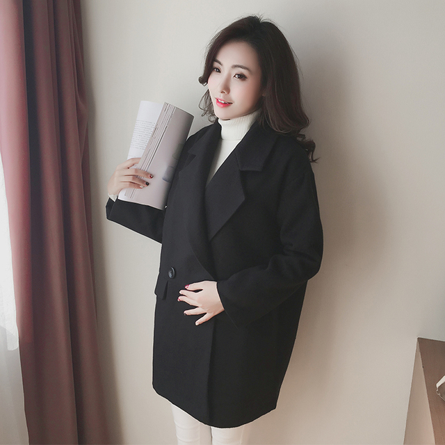 d98bb4f23ff27 Sping Maternity Clothing Pregnant women woolen coat maternity clothes