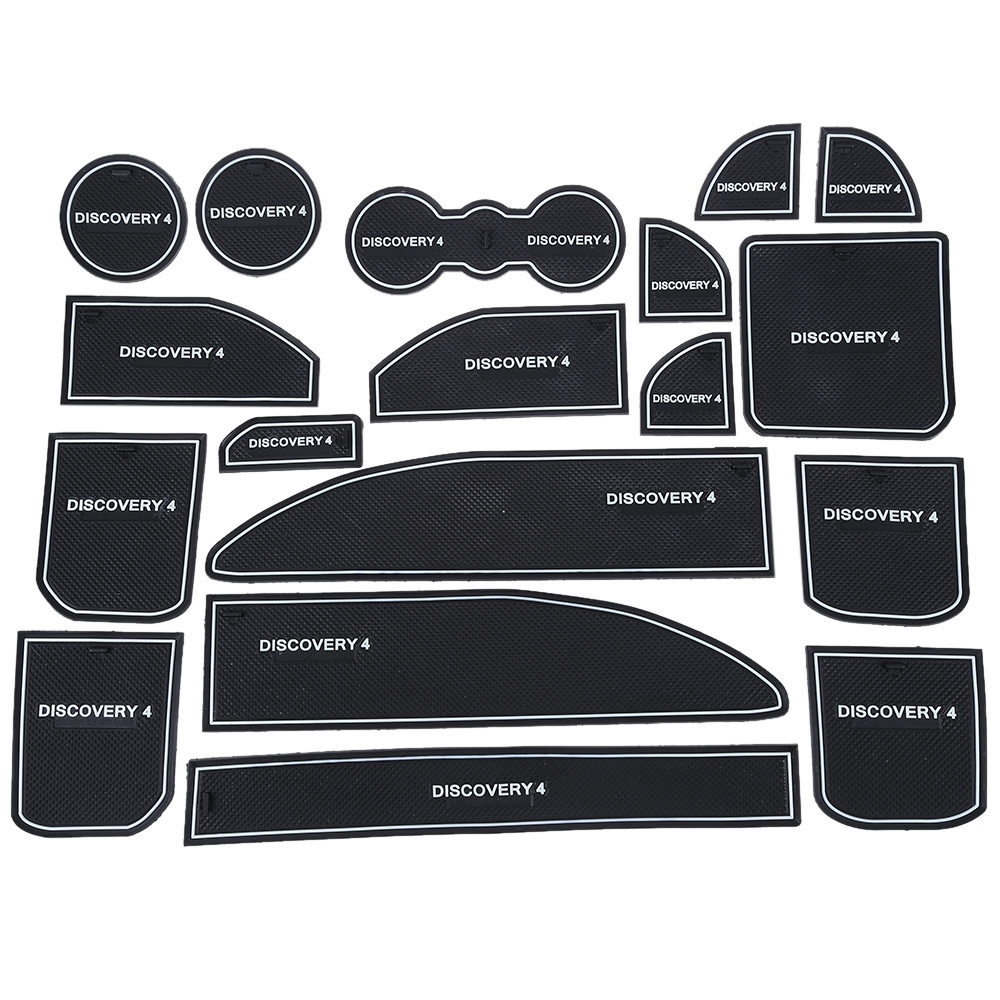 Rubber mats discovery 4 - 18pcs Auto Car Accessories Interior Door Rubber Non Slip Cup Mats Holder Gate Slot Pad