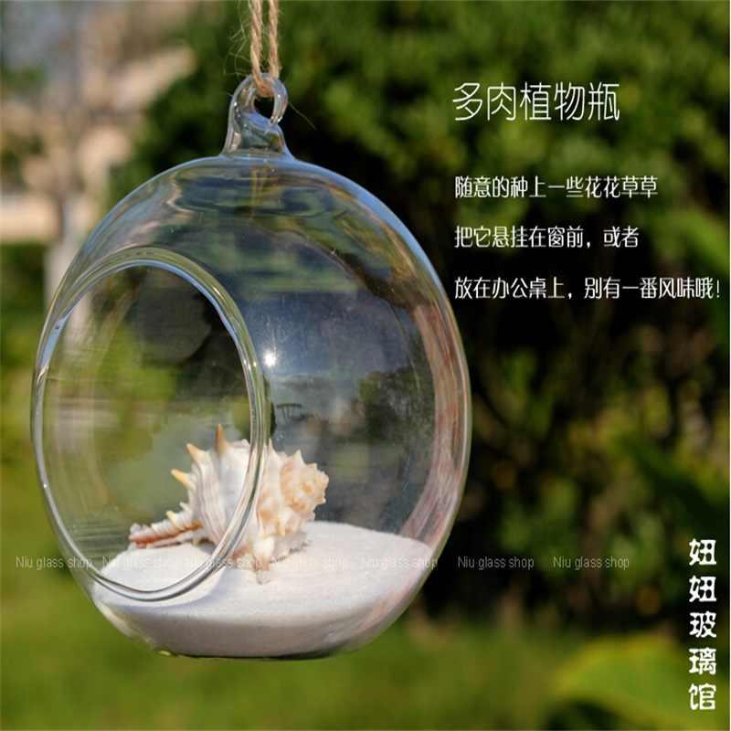 Kính thời trang Mousse pha lê trong suốt bình thủy tinh 6cm 8cm lobbing thủy canh hoa hộ gia đình kính bóng