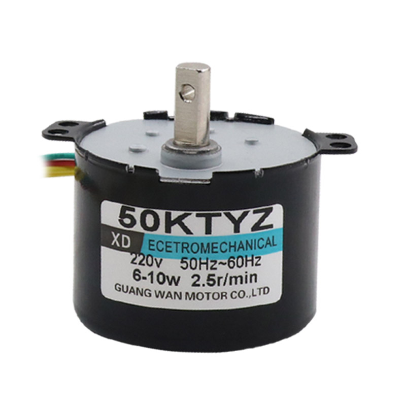 50KTYZ Permanent Magnet Synchronous Motor, 220V AC Gear Reducer Slow Micro Motor, 10W Bidirectional Motor все цены