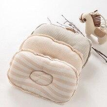 Algodão Colorido Orgânico Almofadas-nascidos Bebê Infantil Moldar Travesseiro Listrado Unsex Menina Bebe Menino Travesseiros 0-8Month
