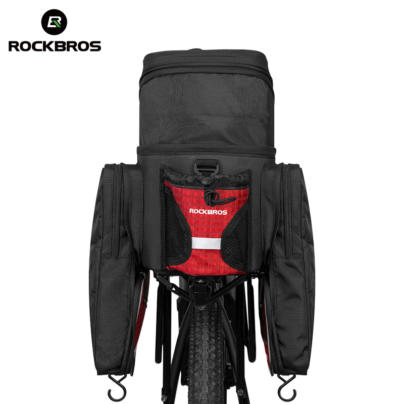 ROCKBROS 35L Cycling Bicycle Bags Multifunction Rear Rack Bags camera bag Photo Packages Foldable Two-Sides Pannier Trunk Pack roswheel 50l bicycle waterproof bag retro canvas bike carrier bag cycling double side rear rack tail seat trunk pannier two bags