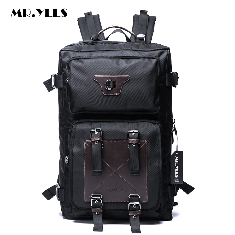 MR.YLLS Large Capacity Backpack Men's Travel Bags Multifunction Rucksack Waterproof Oxford Black School Backpacks For Teenagers longmiao men oxford camouflage backpack preppy style camo school backpacks for teenagers uk flag large capacity travel bags