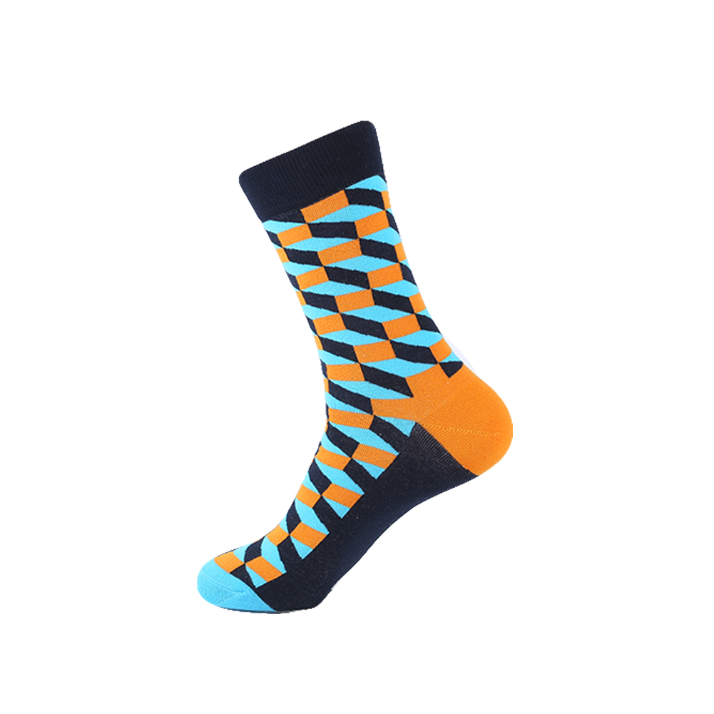 YEADU 10 Pairs/Lot Colorful Combed Cotton Mens Socks Happy Skate Hip hop Socks for Men Wedding Party Christmas Gifts