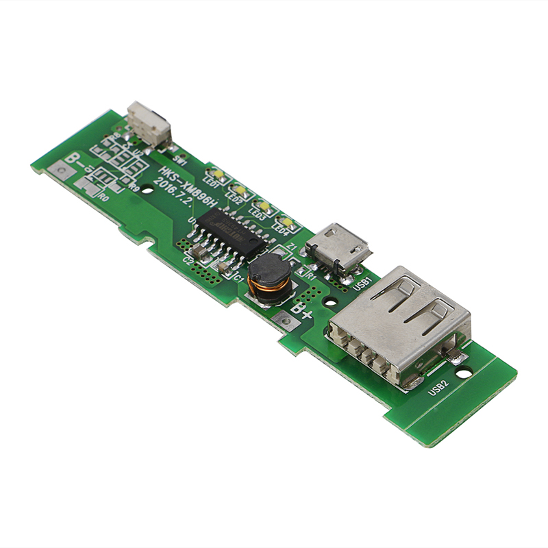 1PCS USB 5V 2A Mobile Phone <font><b>Power</b></font> <font><b>Bank</b></font> Charger PCBA Board Module For 18650 Battery image