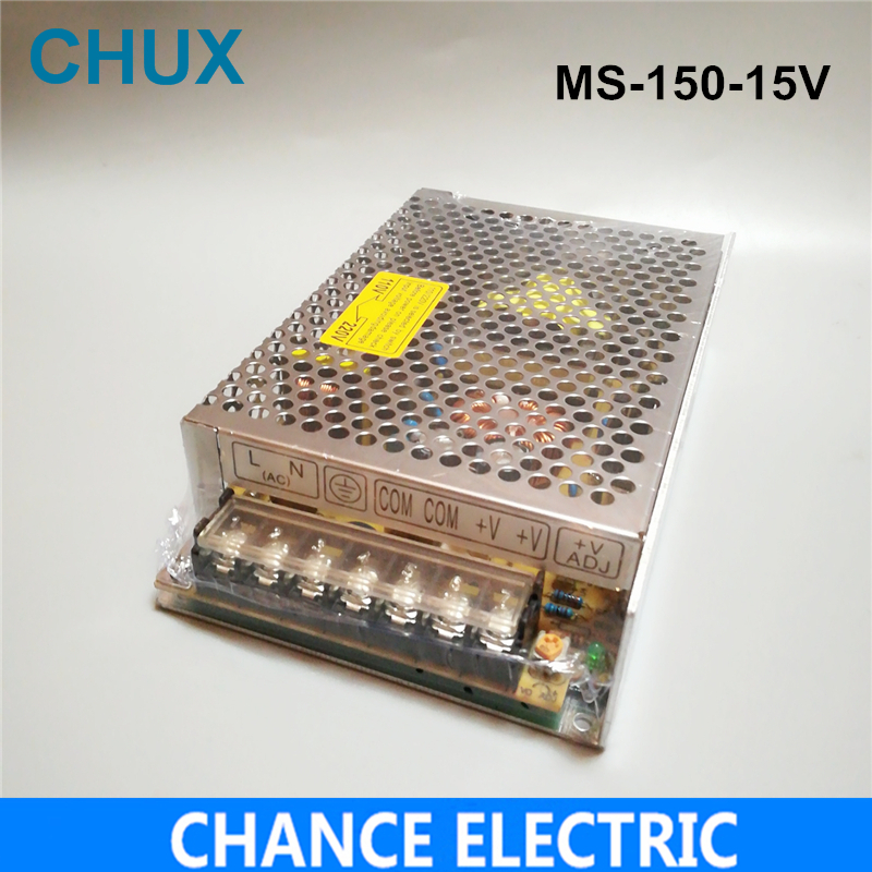 150W 15V 10A  Small Volume Single Output Switching power supply for LED Strip light AC to DC(MS-150-15)  free shipping allishop 10w 5v 2a switching power supply small volume single output for led strip display dc 5v ac 100 240v voltage transformer