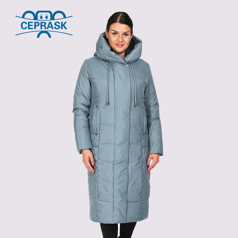 2019 New Spring Autum Women   Parka   Coat Jacket Women Thin Cotton Quilted Coat With Hooded Long Plus Size Outwear