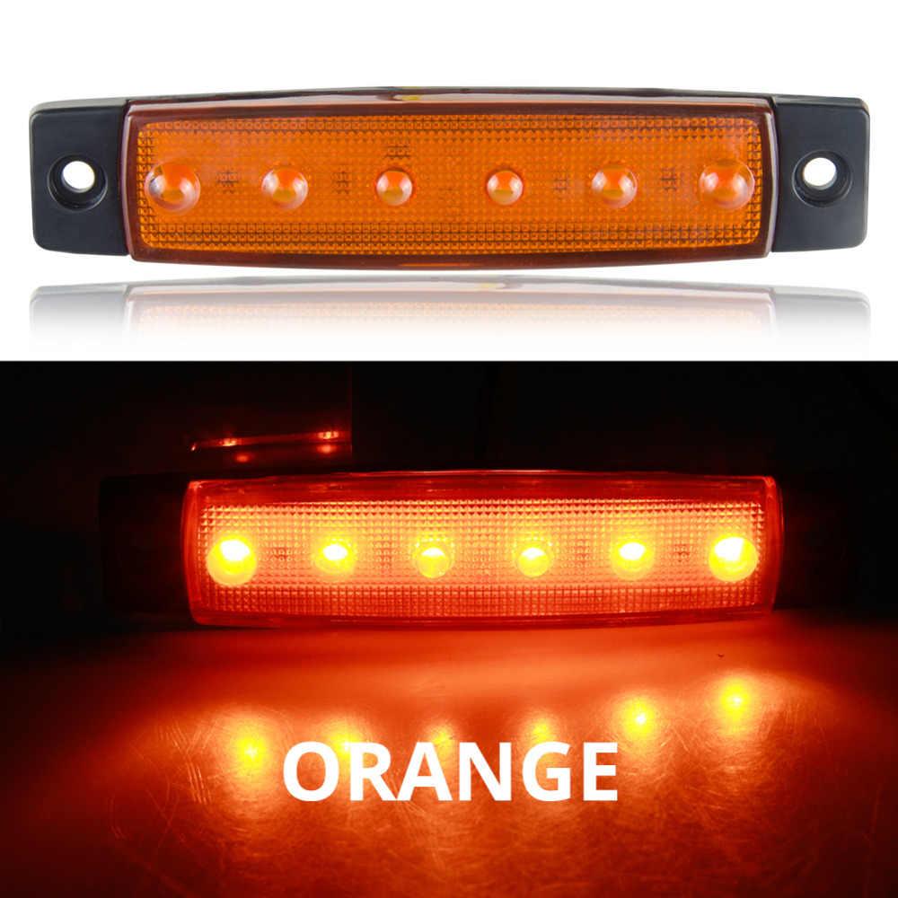 車の外光 LED 12V 24V 6 SMD Led の自動車バストラックローリーサイドマーカーインジケータ Led トレーラーライト警告リアサイドランプ